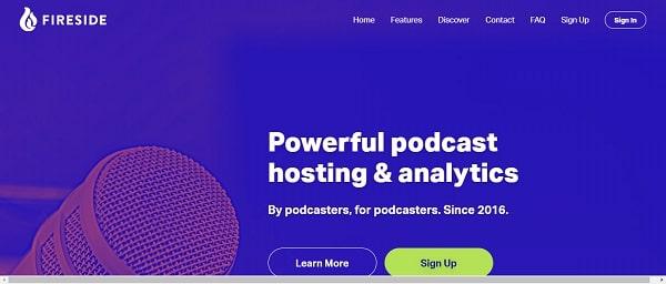 Fireside podcast hosting site