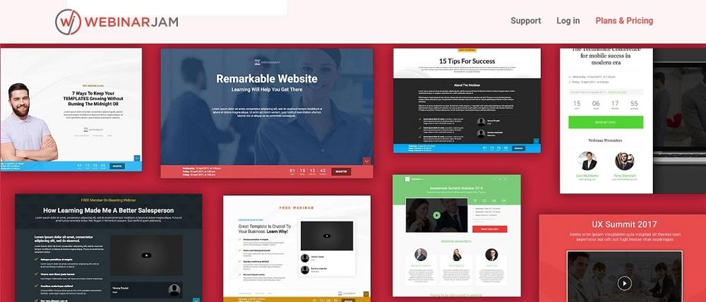 WebinarJam review landing page examples