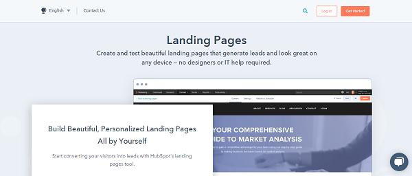 Hubsport landing page platform