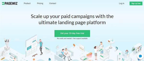 Pagewiz homepage