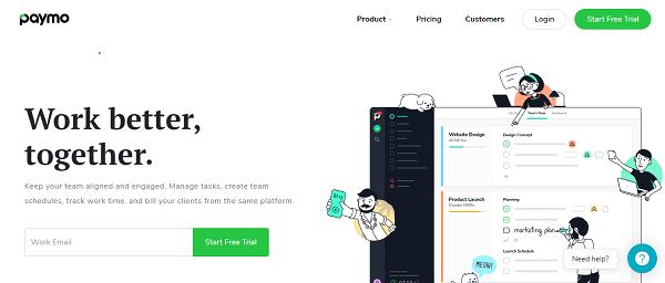 Paymo homepage image