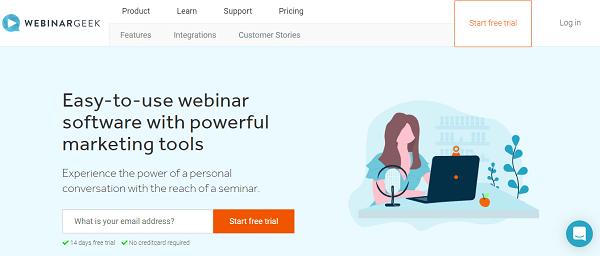 Webinargeek homepage