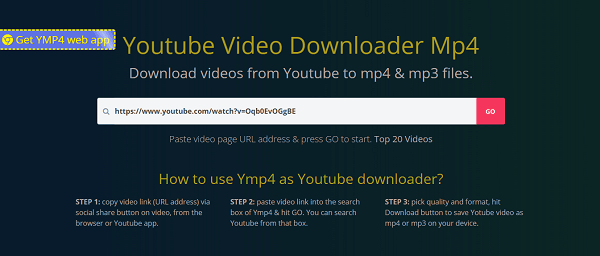 Youtube downloader example