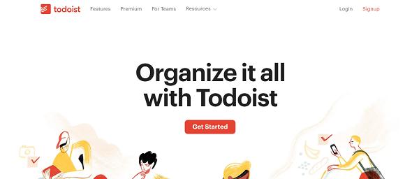 Todoist homepage