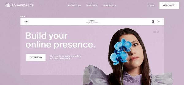 squarespace homepage image