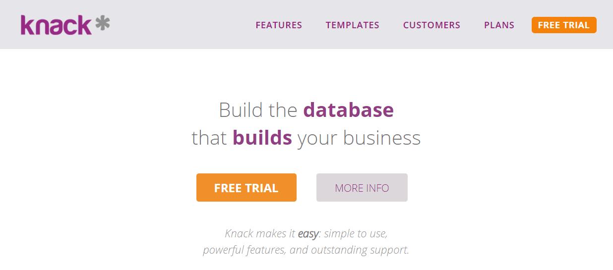Knack homepage