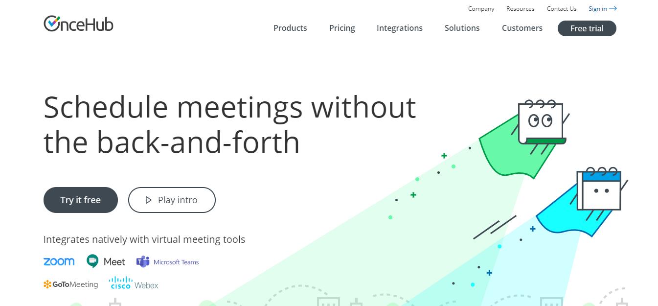 OnceHub homepage