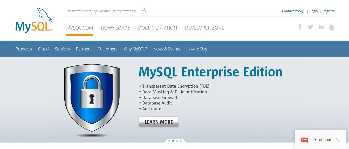 mySQL database software