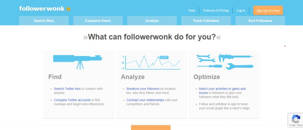 Follower Wonk homepage