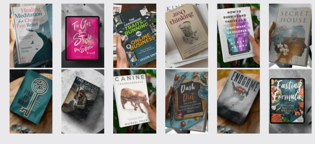 Self published authors book covers