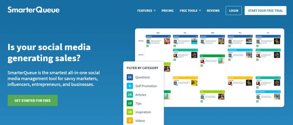 SmarterQueue social media management tool