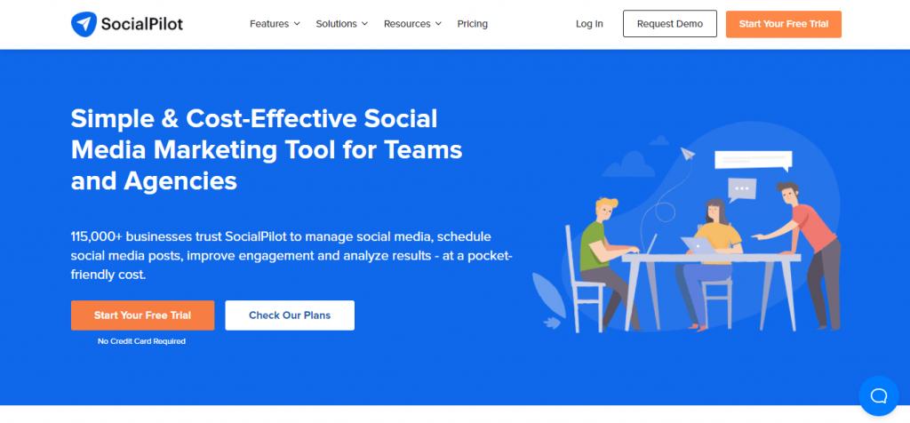 social pilot homepage