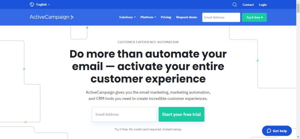 activecampaign email marketing service homepage image