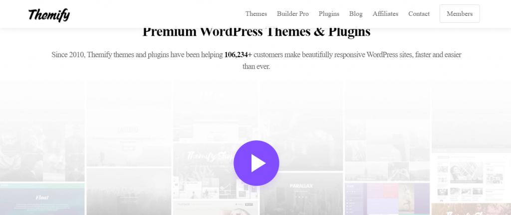 Themify WordPress visual editor plugin