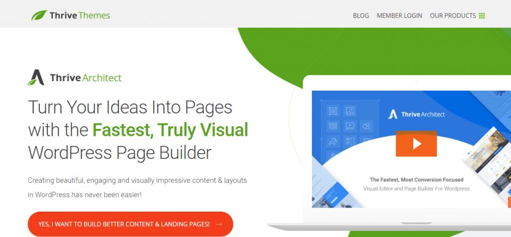 Thrive Architect visual editor plugin