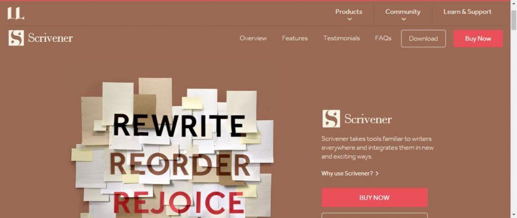 Scrivener Writing app