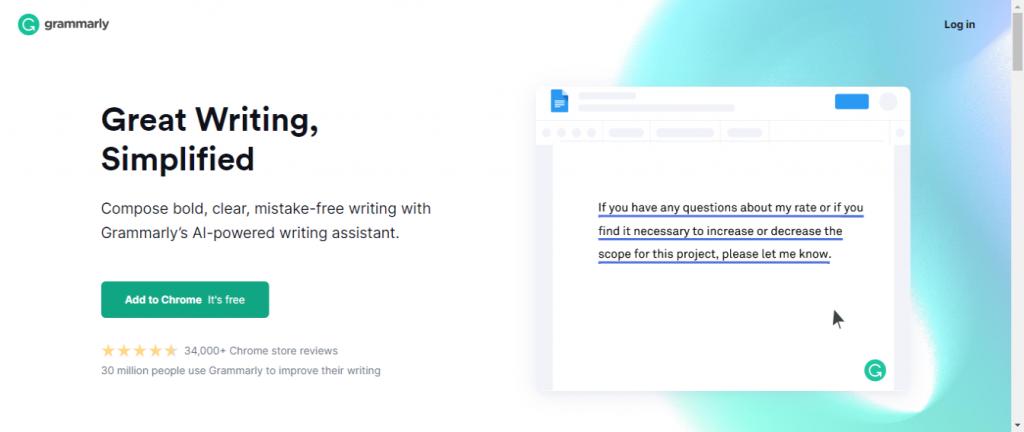 Grammarly Writing app