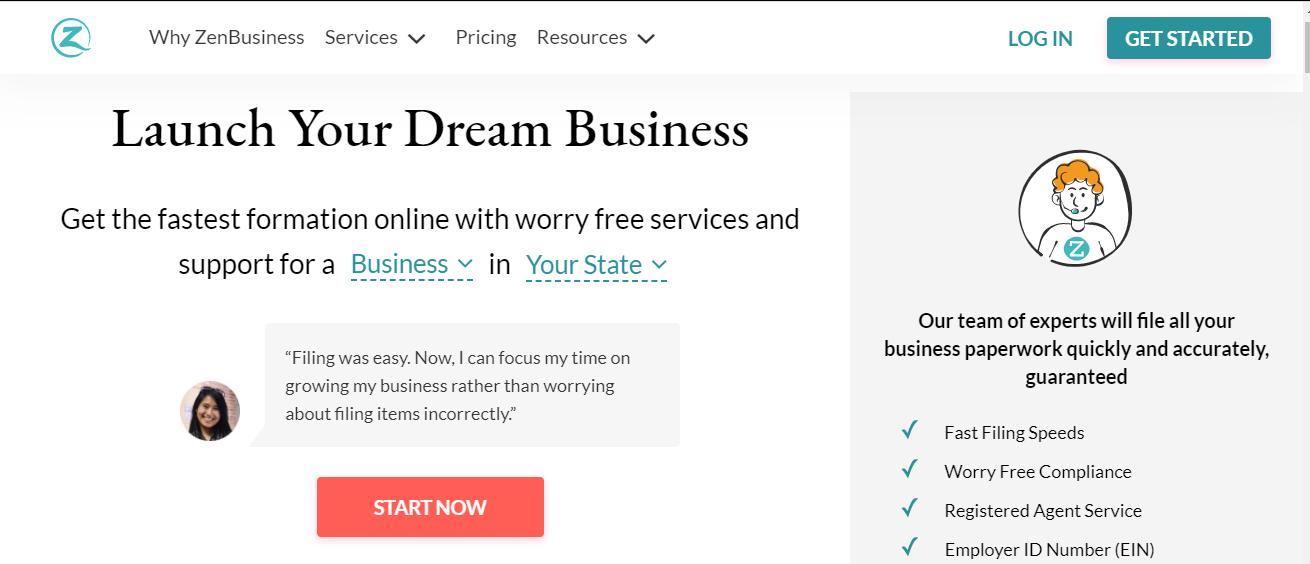 ZenBusiness Best LLC service